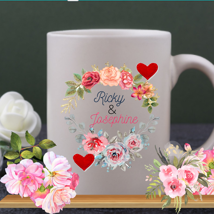 Personalized  White  Mug for Valentines Day