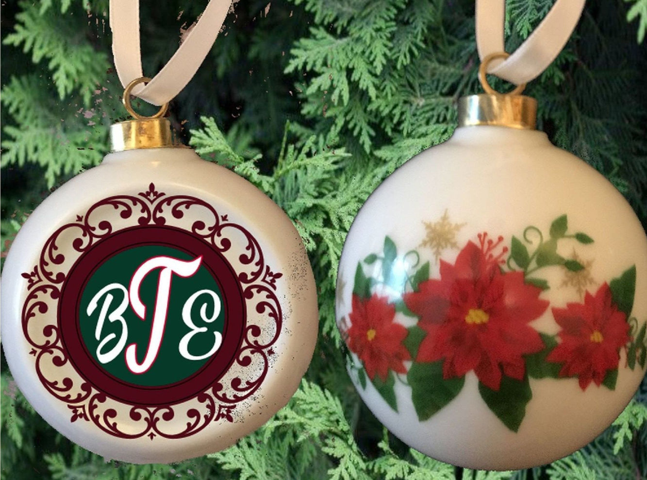 Personalized Monogram Heirloom Ball Ornament