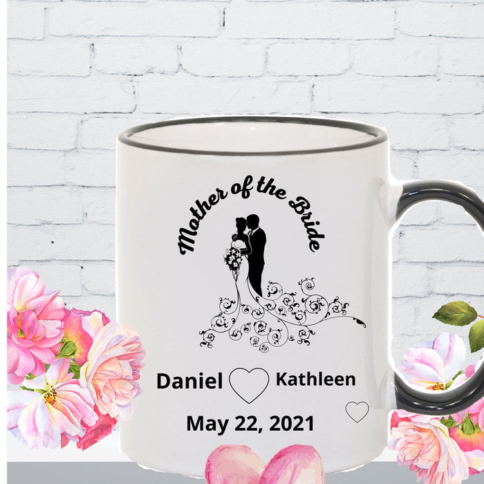 Personalized Mother of the Bride mug gift