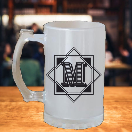 Personalized Initial of Name Beer Stein