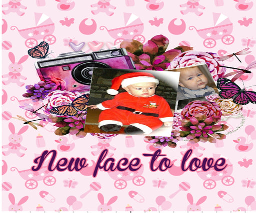 "Personalized Photo ""New Face to Love"" Baby Blanket"