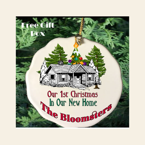 "Personalized ""New Home"" Porcelain Ornament"