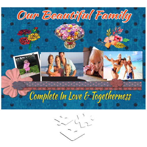 "Personalized Photo ""Our Beautiful Family"" Jigsaw Puzzle"