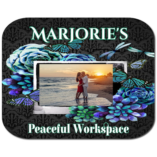 "Beautiful Personalized ""Peaceful Workspace"" Mousepad"