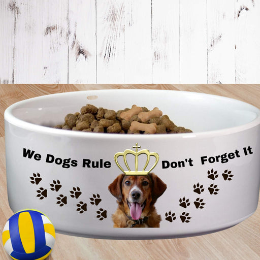 Personalized Dogs Rule Dog Bowl 2