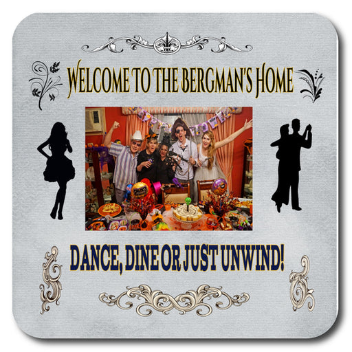 Personalized Welcome Photo Drink Coaster