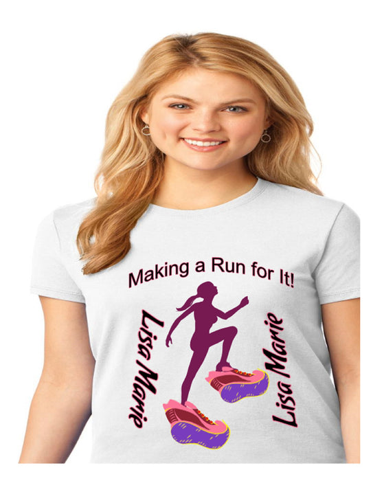 Personalized Making A Run For It Solar Performance Tee-White