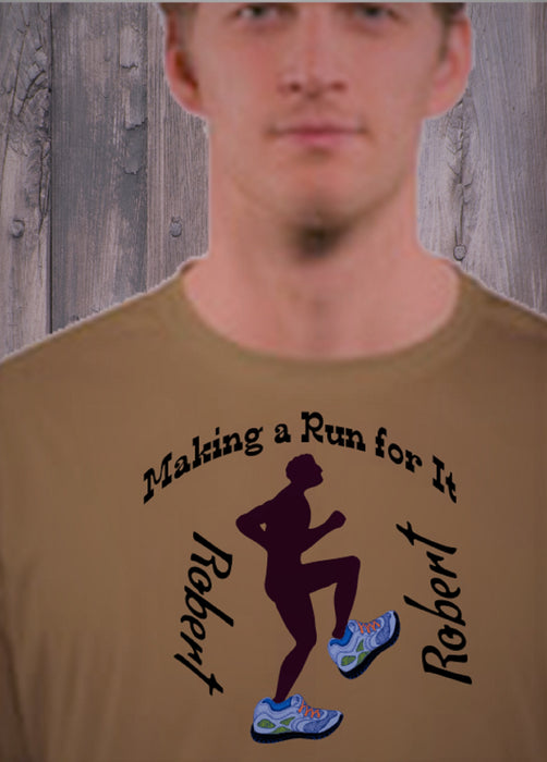 Personalized Making A Run For It Solar Performance Tee - Coyote Tan