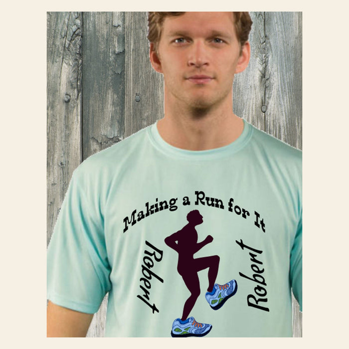 "Personalized ""Making A Run For It"" Solar Performance Short Sleeve For He Gifts Personalized"