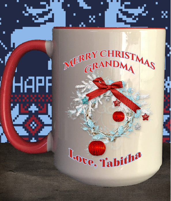 "Personalized ""Merry Christmas"" Coffee Mug"