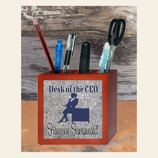 Personalized Wooden Pencil/Pen Holder Gifts Personalized