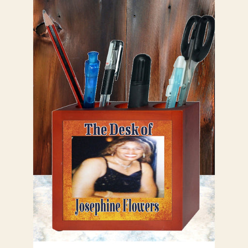 Personalized Photo Wooden Pencil Holder