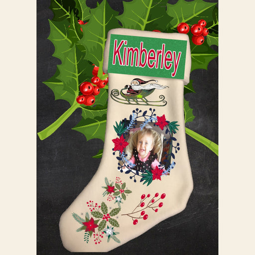 Personalized Photo Fleece Christmas Stocking