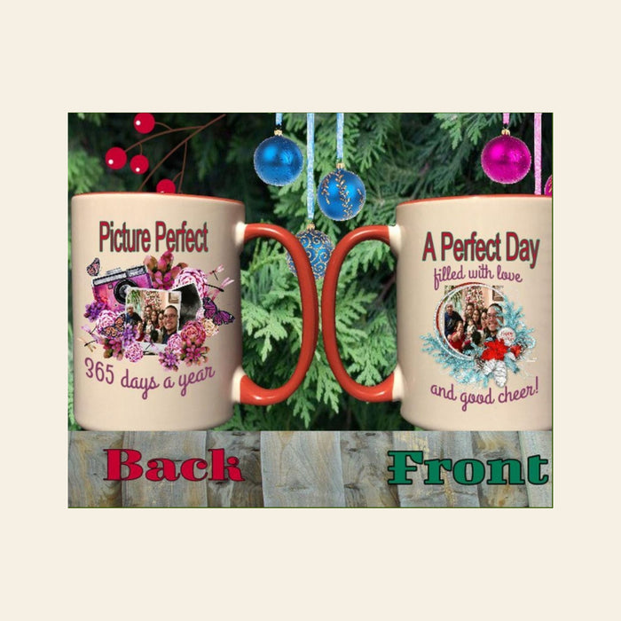 "Personalized ""Picture Perfect"" Holiday Ceramic Mug"