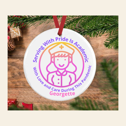 Personalized Ornament For Nurses, Covid-19 Nurse Christmas Gift