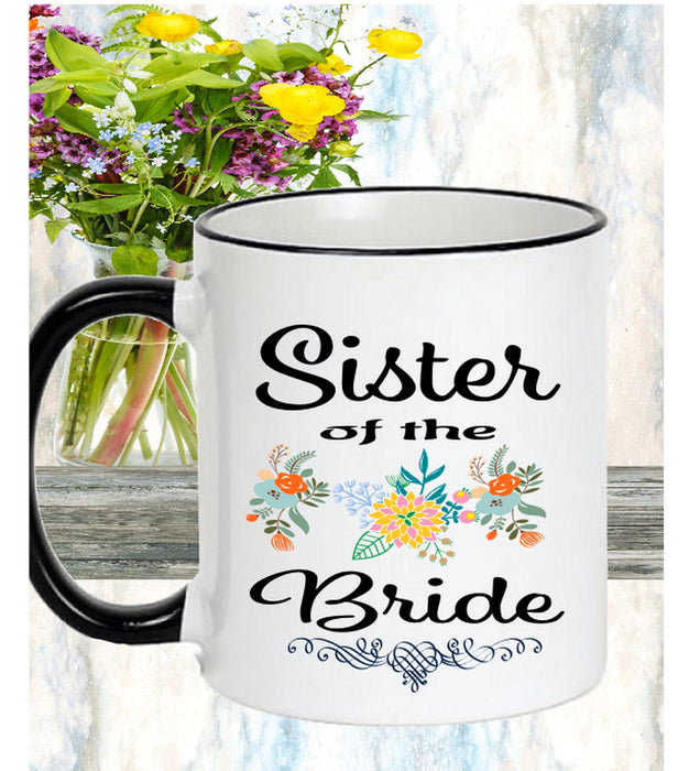 Sister of the Bride Personalized Coffee Mug