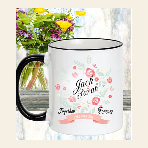 "Personalized ""Together Forever"" Mug Gift / Wedding, Engagement Gift"