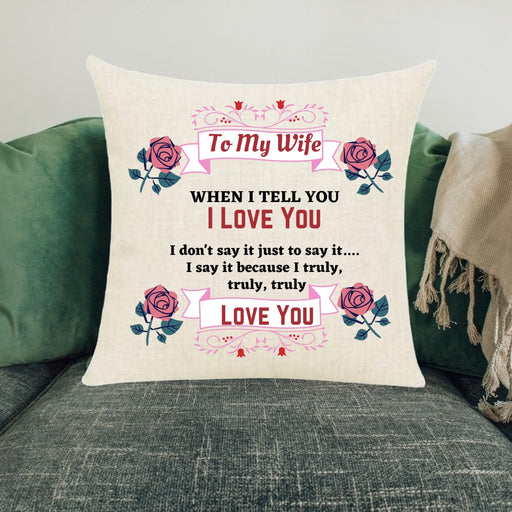 "Personalized ""Truly, Truly Love You"" Appreciation Throw Pillow"