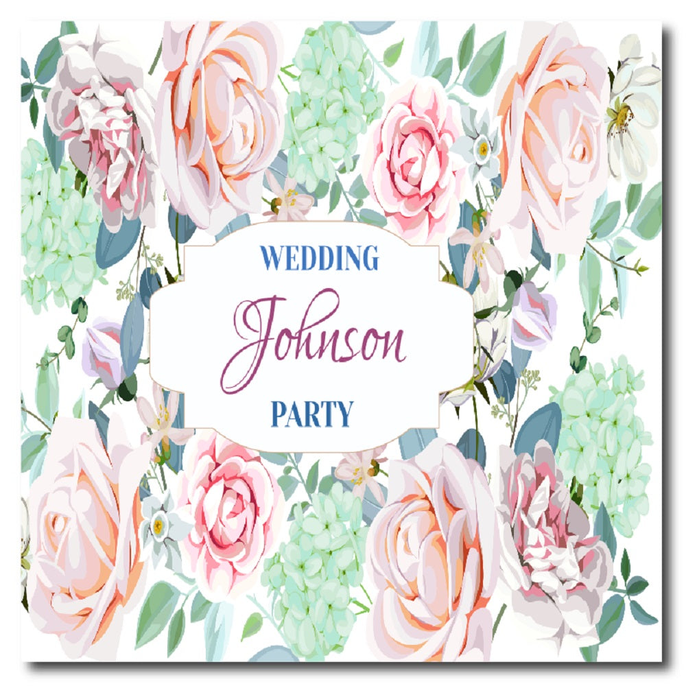 Personalized Wedding Party Coaster