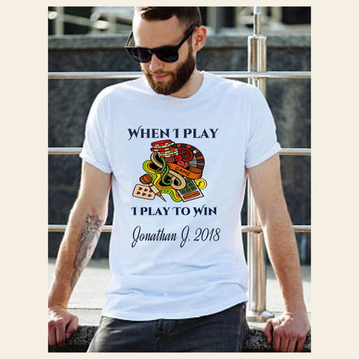 "Personalized ""Play To Win"" Classic Tee for He Gifts Personalized"