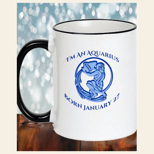 Personalized Zodiac Birthdate Coffee Mug