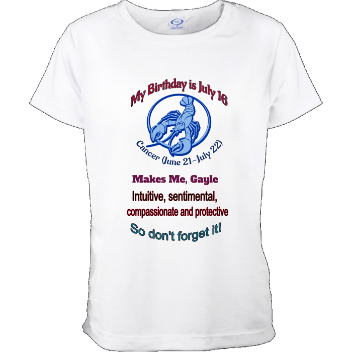 Personalized and Customized Zodiac Birthday Shirt for Her