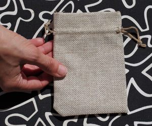 Linen bag (small) for healing crystals