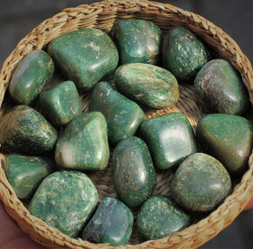 Green aventurine tumbled stones healing crystals