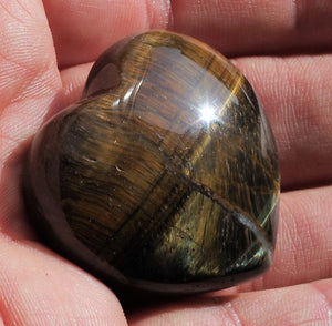 Tiger's Eye Heart healing crystals
