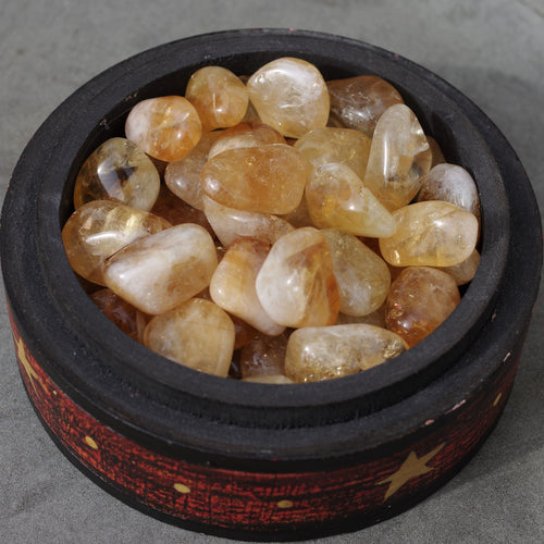 Citrine tumbled stones healing crytals