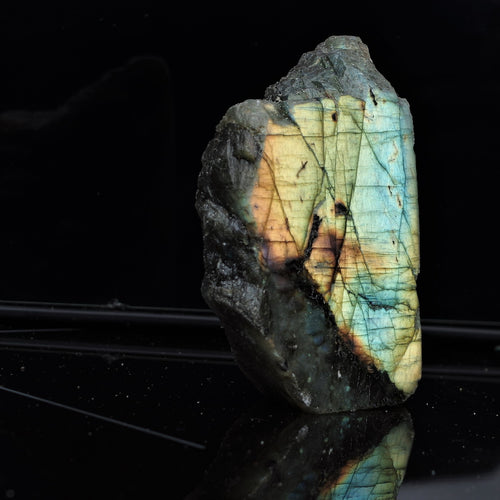 Labradorite half-polished slice IV.
