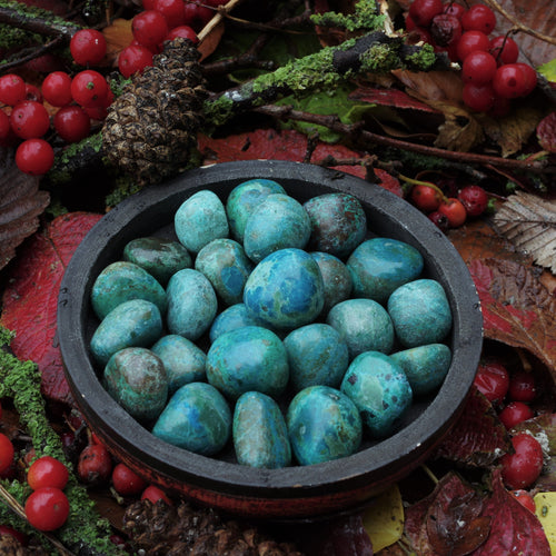 Chrysocolla tumbles - for a clear mind
