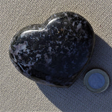 Load image into Gallery viewer, Mystic merlinite (Indigo gabbro) large crystal heart