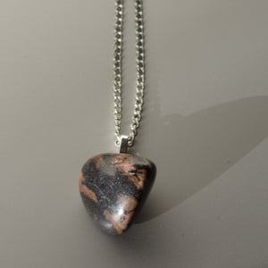 Rhodonite polished handmade pendant