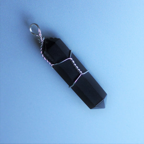 Black Tourmaline point Pendant - Protection & Grounding