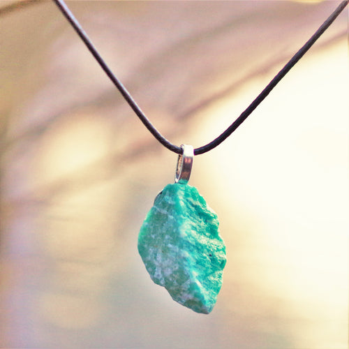 Amazonite rough handmade pendant