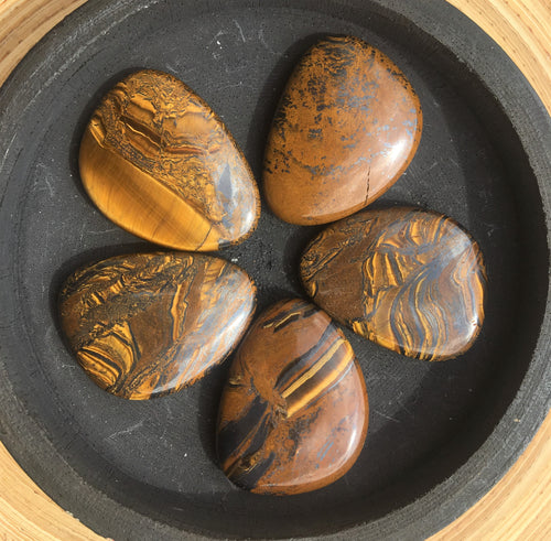 Tiger Iron thumb stone healing crystals