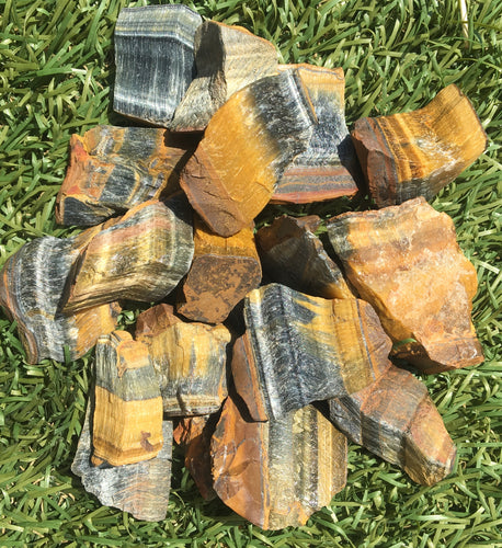 Tiger's Eye rough healing crystals