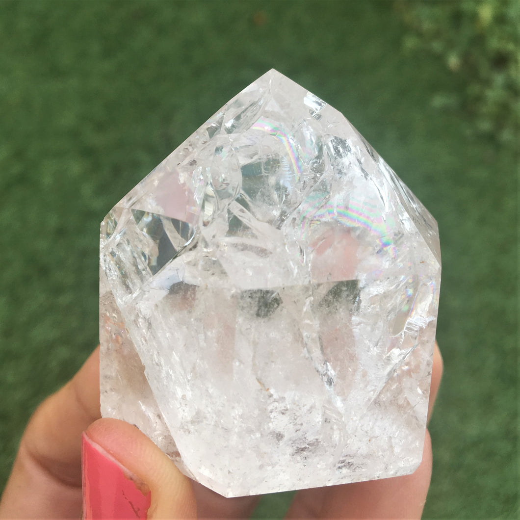 Fire & Ice Quartz (cracked) points - small healing crystals