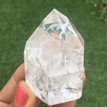 Load image into Gallery viewer, Fire & Ice Quartz (cracked) points - small healing crystals