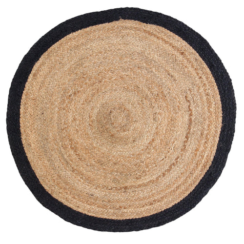 Sashaa Jute  Round Rug with black border - Sashaaworld
