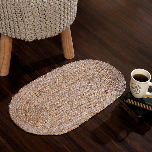 Sashaa Oval Shaped Jute Braided Rug - Sashaaworld