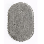 Reversible Oval Shaped Bathroom Rug