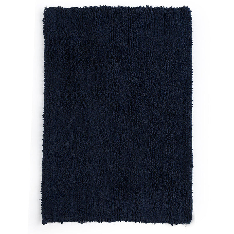 Tufted Striped Bathroom Rug