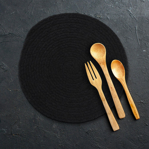 Set of 6 Cotton Round Placemat - Sashaaworld