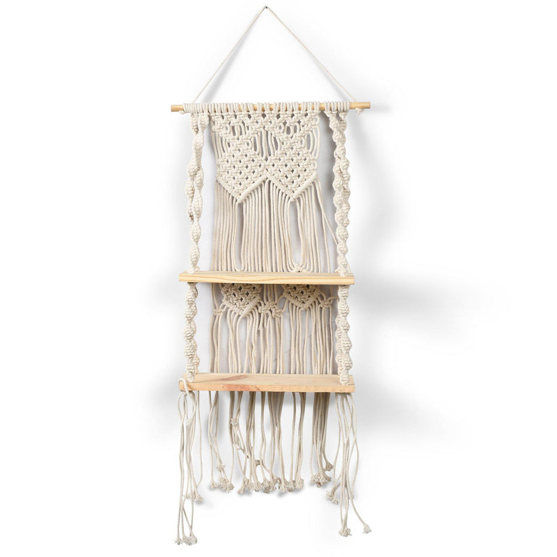 Macramé Wall Decor with double shelf
