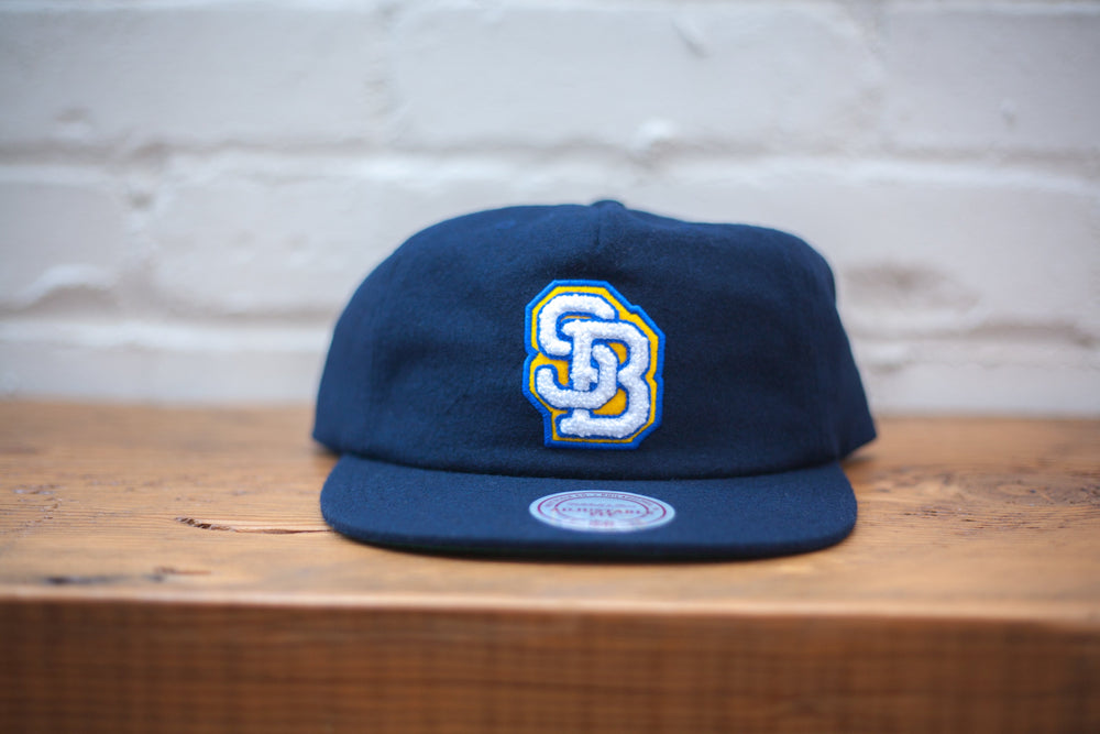 Wolf's Head SB Lock Up Strap Back Hat by Mitchell & Ness Front Detail