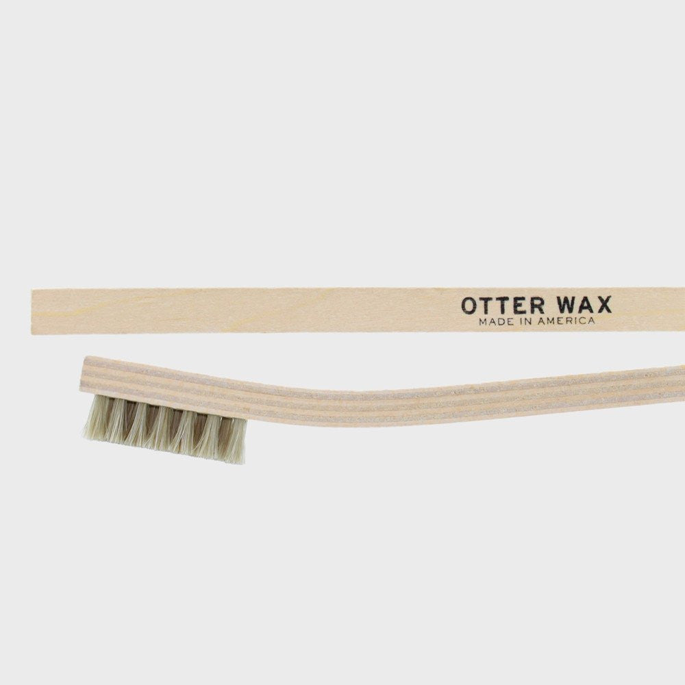 Otter Wax Horsehair Buffing Brush | WOLF'S HEAD