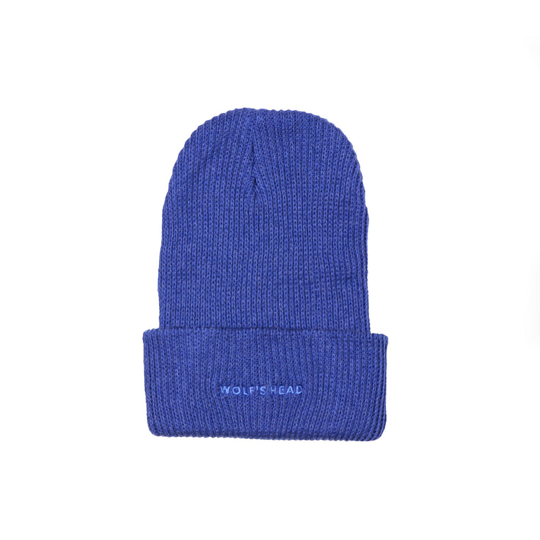 Wolf's Head Tonal Beanie - Royal Blue