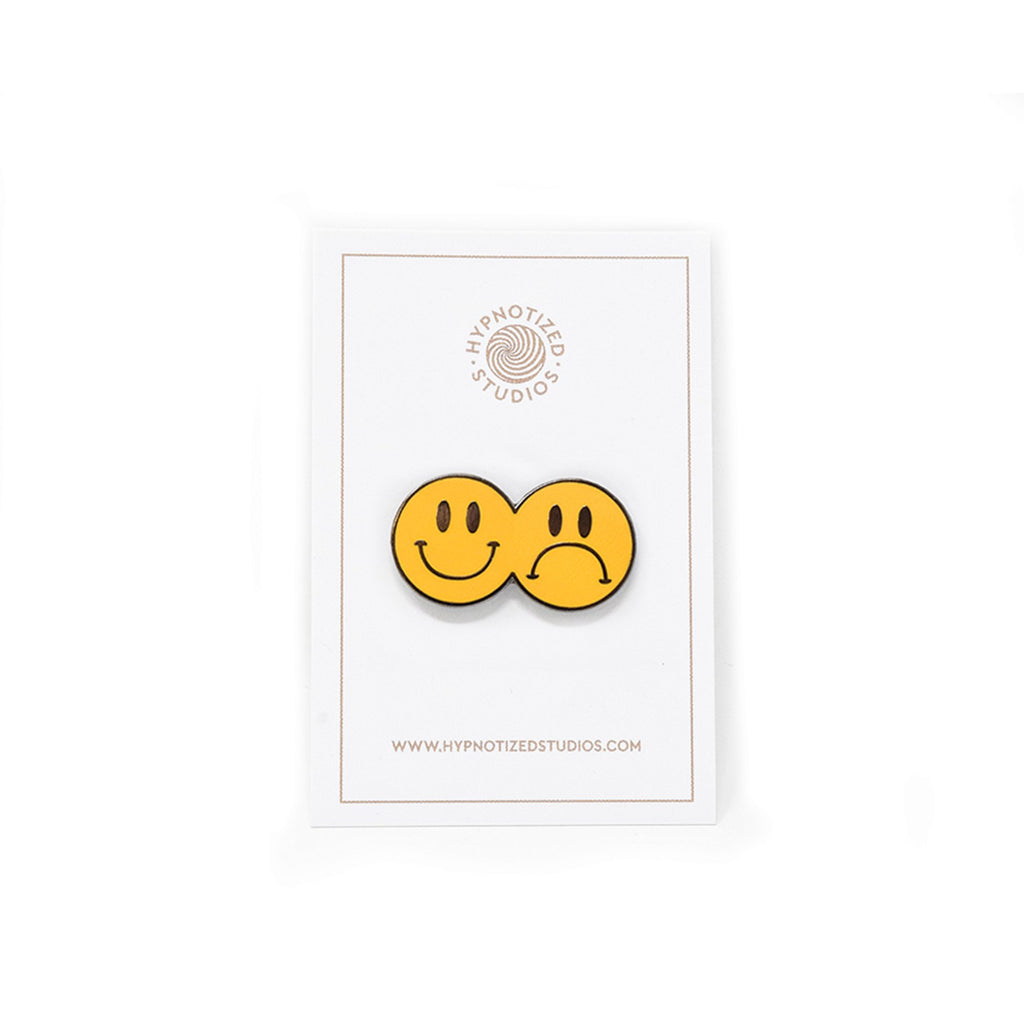 Hypnotized Studios Smile Now Cry Later Lapel Pin | WOLF'S HEAD